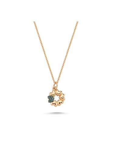 LUXO Diamond Pırlanta Kolye Pembe